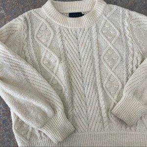 Hatch Fisherman Wool Blend Pullover Sweater